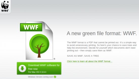 Wwf Un Formato Ecologico Kscius 39 S Blog