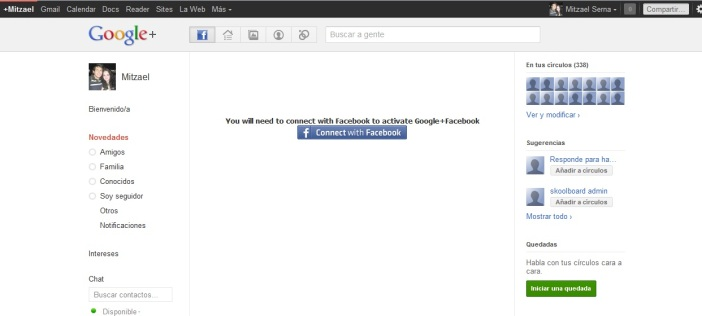 facebook desde google+