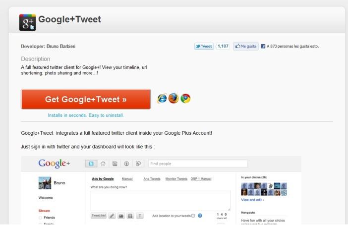 Twitter en google+